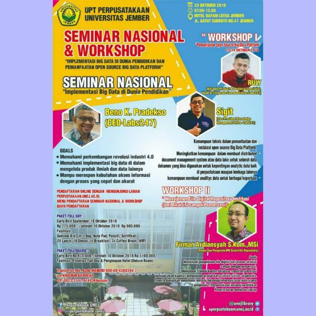 SEMINAR DAN WORKSHOP NASIONAL PERPUSTAKAAN 2018